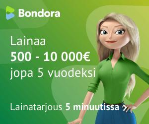 Bondora lainaa 500 - 10 000€ vakuudetta