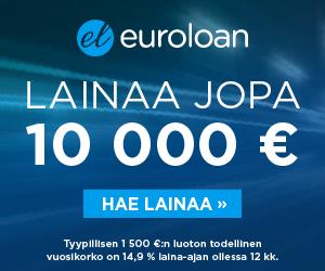 Euroloan lainaa jopa 10 000€