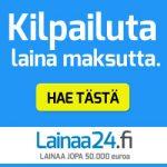 Lainaa24 kilpailuttaa lainat maksutta puolestasi aina 70000€ saakka