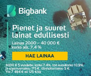 Hae 6000€ laina Bigbankilta