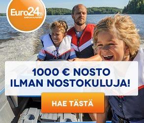 Euro24:ltä piakvippi 200€ ilman nostokuluja