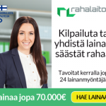 Rahalaitos lainaa 500 – 70 000€ 1-15 v. maksuajalla – Hae lainaa!