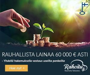 Rahoitu.fi tarjoaa Lainaa 60 000€ asti