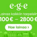 Ege.fi laina on huippuhalpa! Hae heti lainaa 100-2800€ netistä