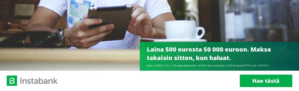 Instabank lainaa 500 - 50 000 euroa