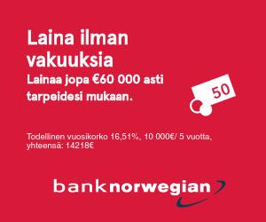 Bank Norwegian lainaa nopeasti