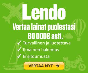 Kilpailuta 7000€ lainat Lendon avulla
