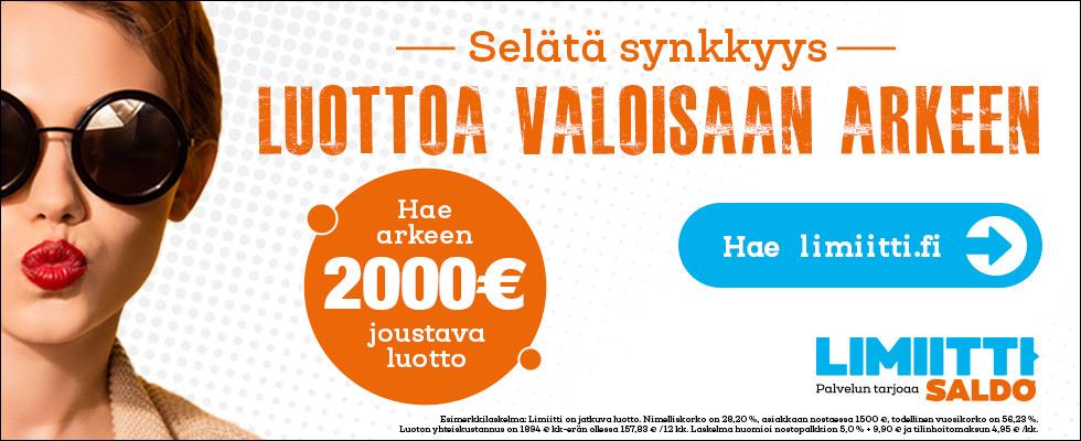 Vippi.fi tarjoaa 2000€ ilman nostokuluja