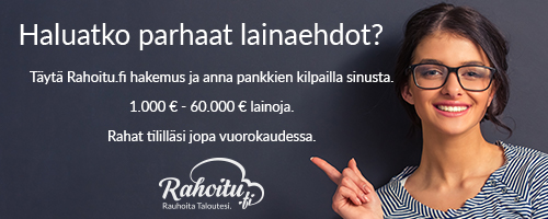 Hae lainaa 7000€ heti Rahoitu.fi palvelusta